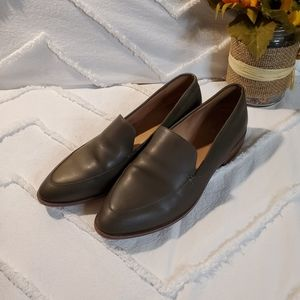 Madewell The Frances Loafer in Olive Green